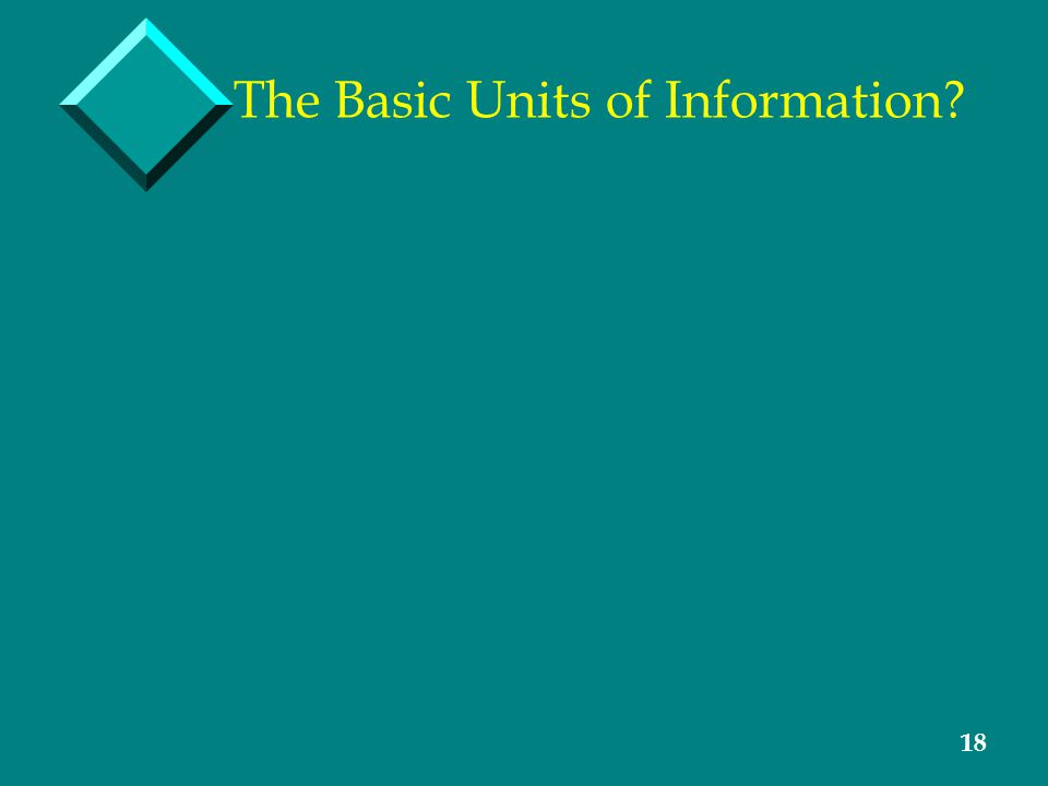18 The Basic Units of Information