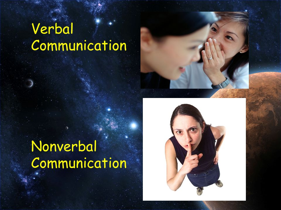 Verbal Communication Nonverbal Communication