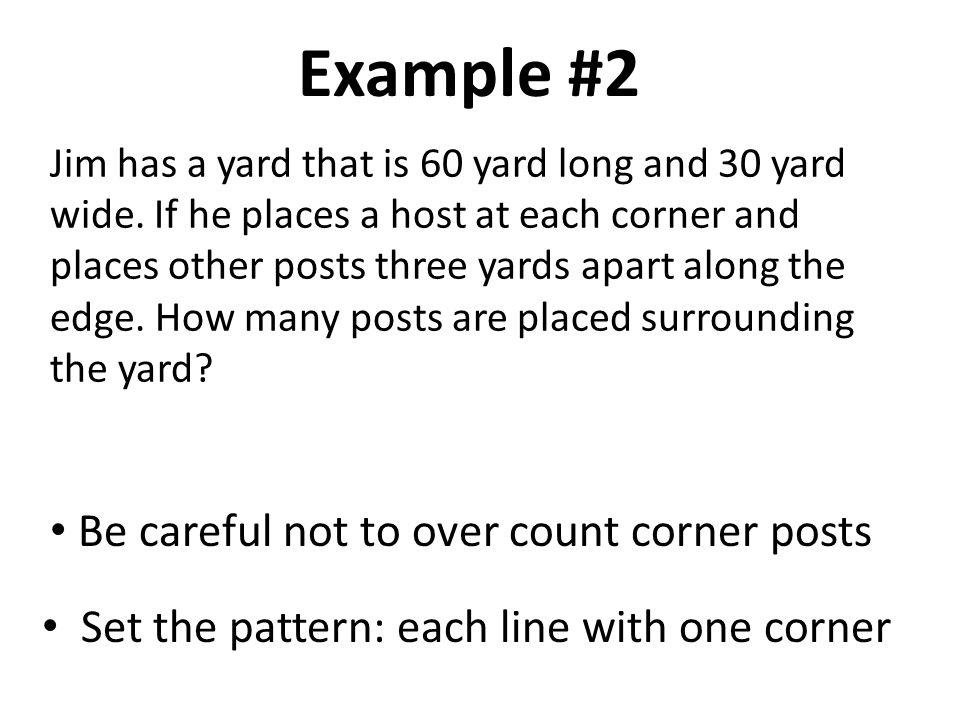 1*3, 2*3, …10x3; total 10 posts 10 posts 1*3, 2*3, …, 20*3; total 20 posts 20 posts Answer: 20 + 10 + 20 + 10 = 60 posts