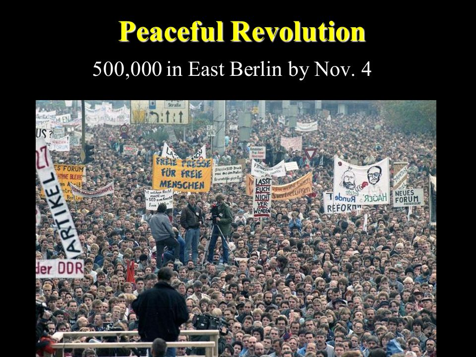 Peaceful Revolution 500,000 in East Berlin by Nov. 4
