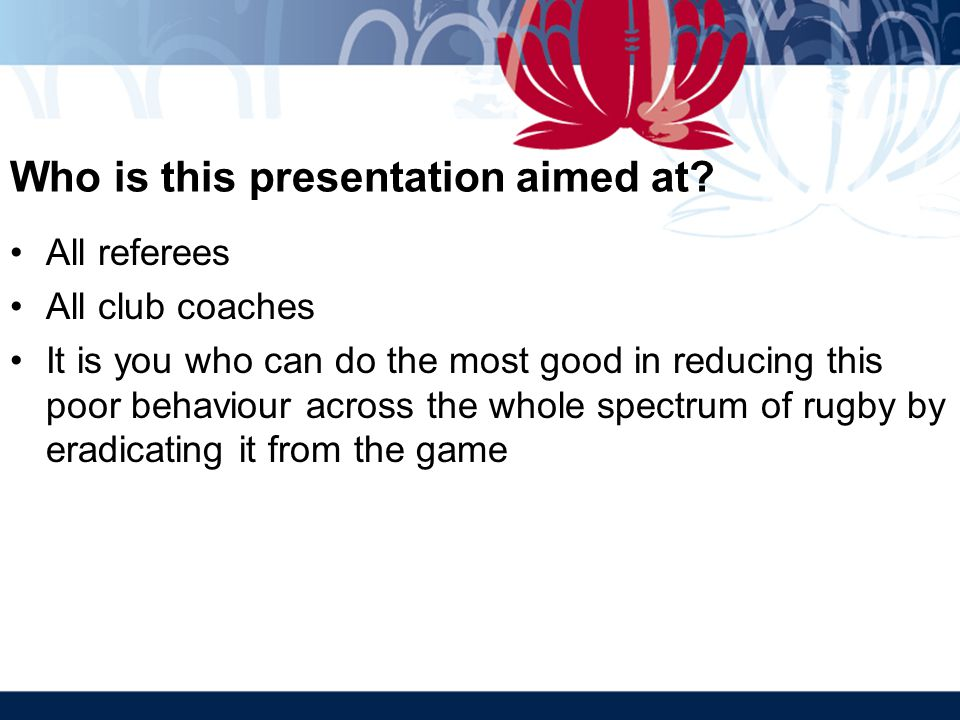 Who is this presentation aimed at.