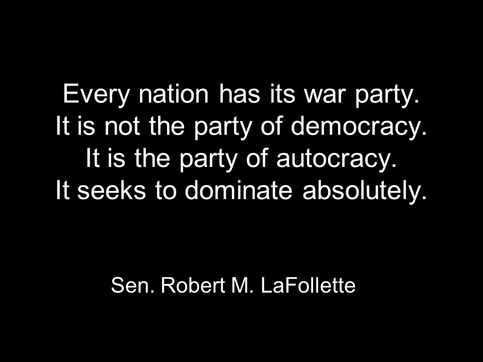 Today the real test of power is not capacity to make war but capacity to prevent it.