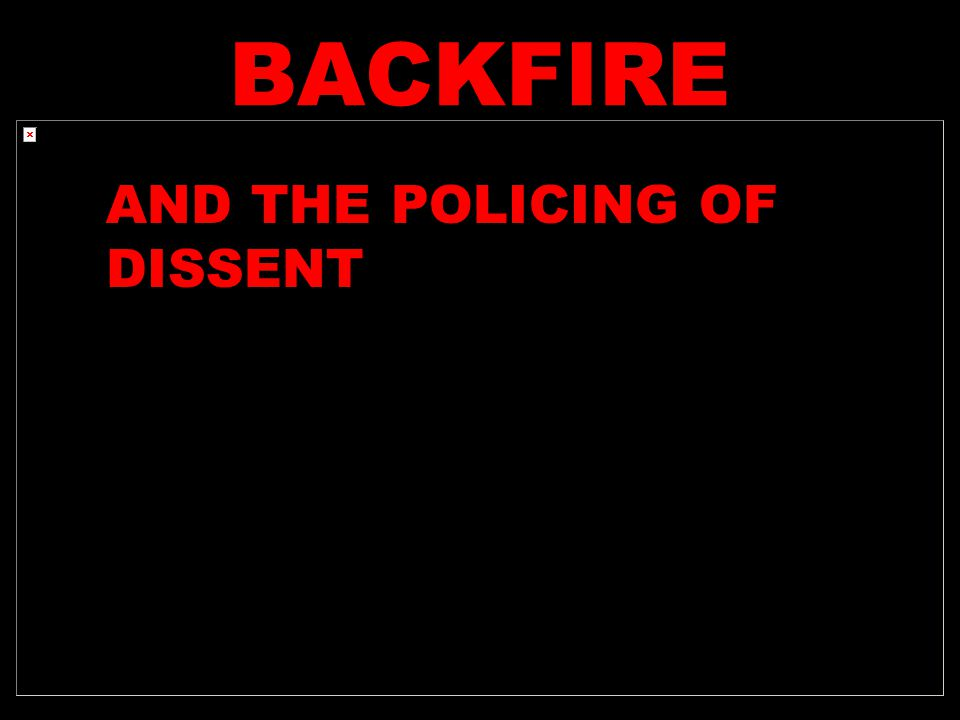 BACKFIRE Free Speech Movement Berkeley 1964 AND THE POLICING OF DISSENT