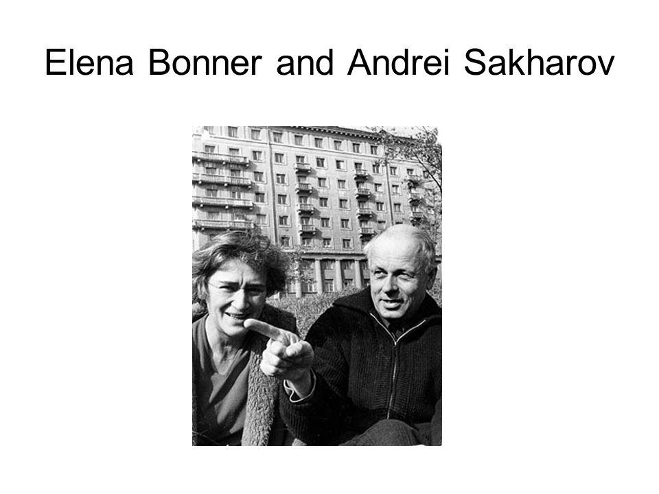 Elena Bonner and Andrei Sakharov