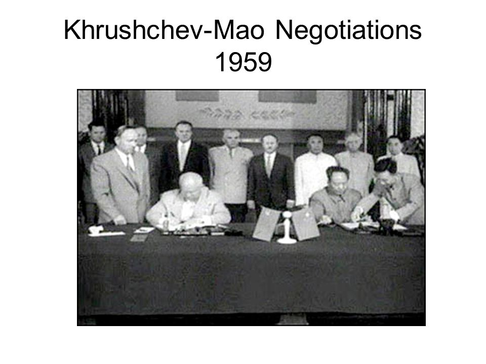 Khrushchev-Mao Negotiations 1959