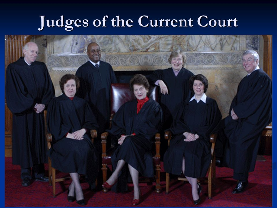 Judges of the Current Court