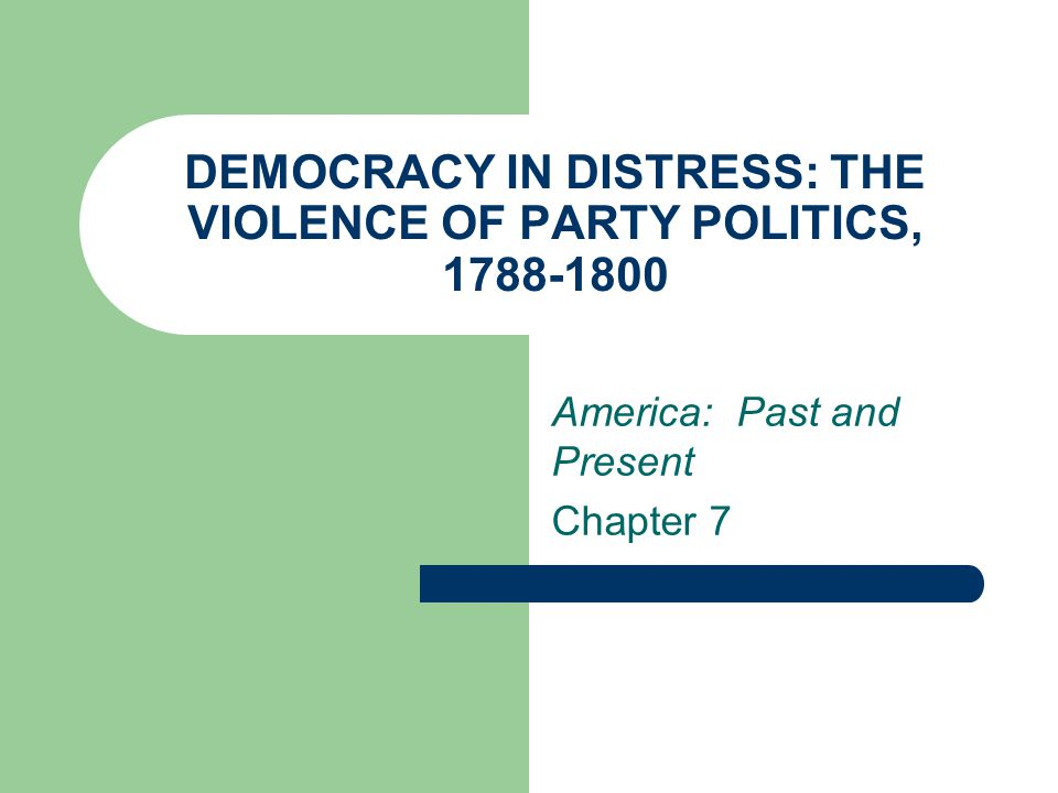 Force of Public Opinion Root cause of political parties: ambiguity of republican ideology Federalists (Hamiltonians) stress national economy to preserve U.S.