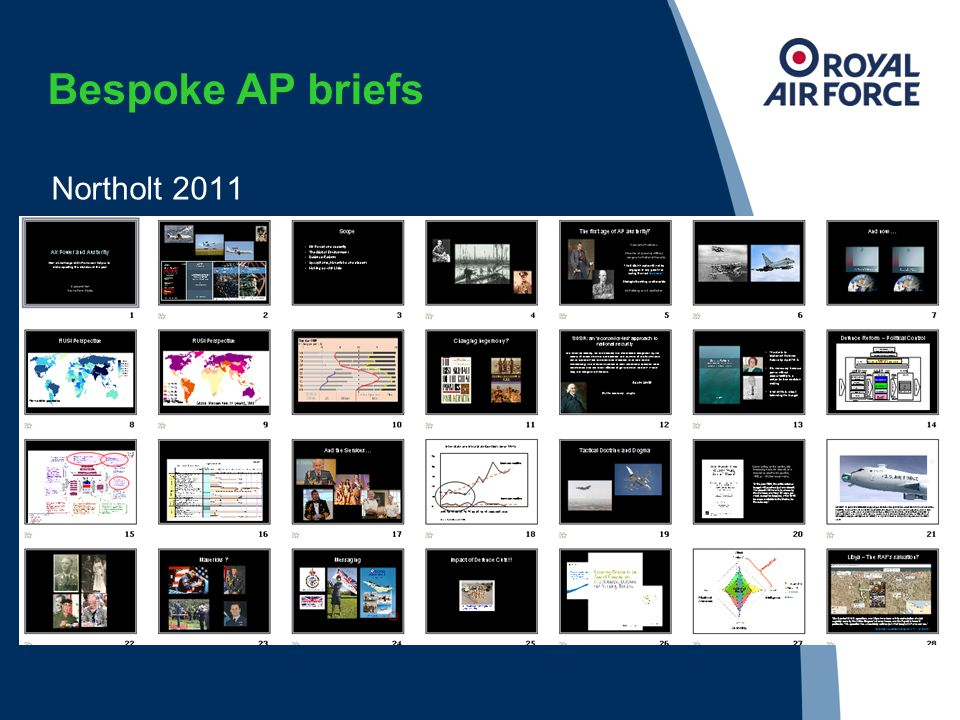 Bespoke AP briefs Northolt 2011
