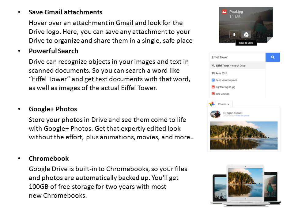 Save Gmail attachments Hover over an attachment in Gmail and look for the Drive logo. Here, you can save any attachment to your Drive to organize and