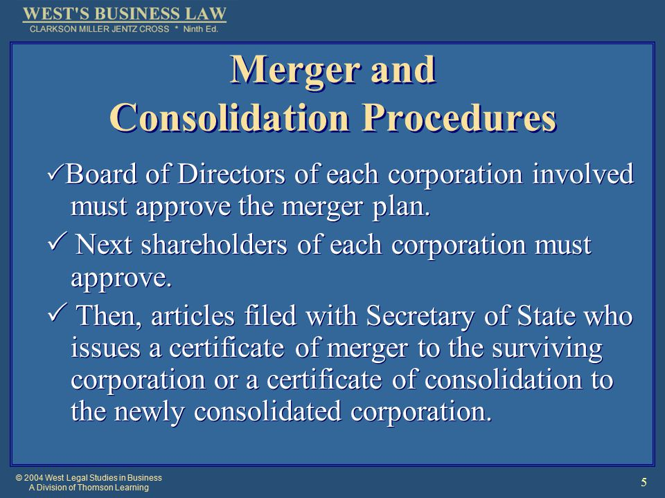 © 2004 West Legal Studies in Business A Division of Thomson Learning 16 Target's Responses Directors of a corporation may consider the takeover to be friendly or unfriendly to the present management.