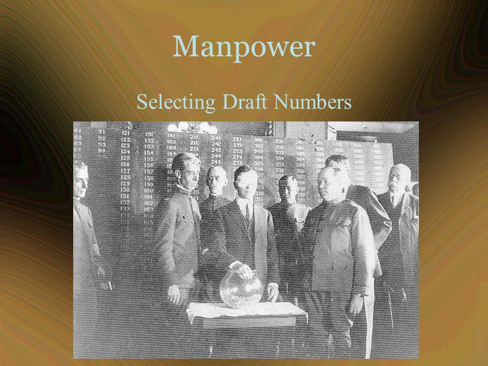 Manpower Selecting Draft Numbers