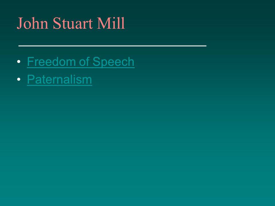 Freedom of Speech Paternalism