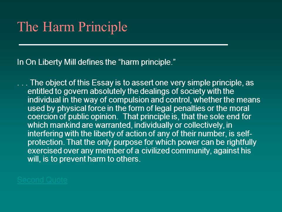 harm principle essay