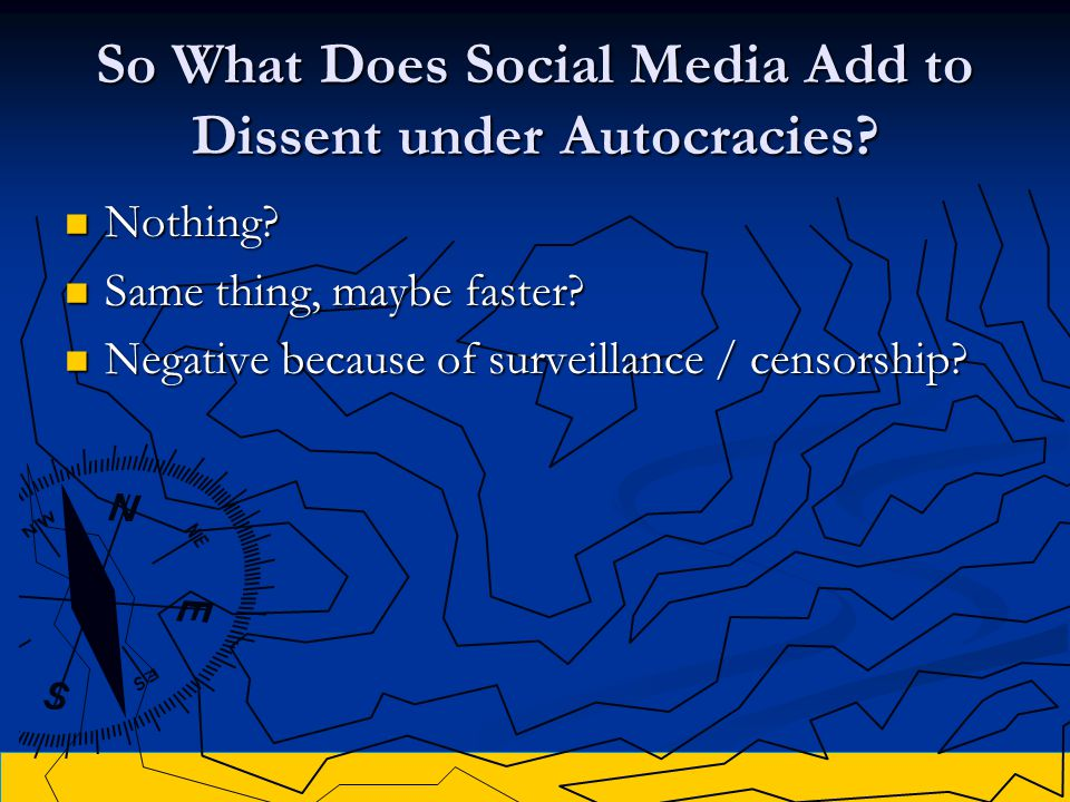 So What Does Social Media Add to Dissent under Autocracies.