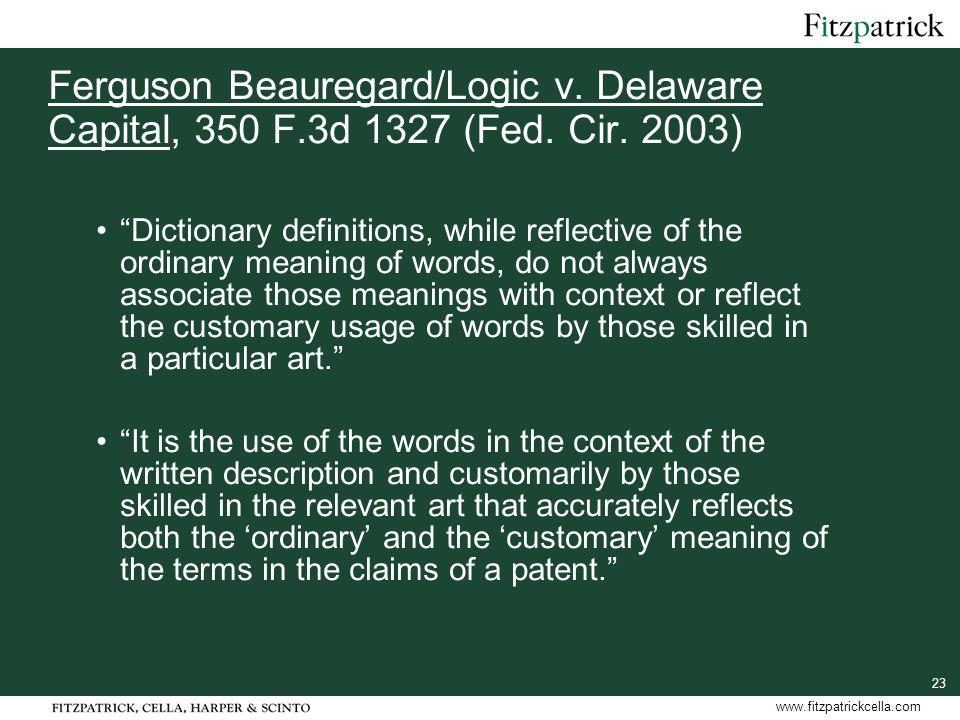 23 www.fitzpatrickcella.com Ferguson Beauregard/Logic v.