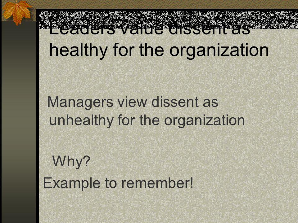 As Leaders we value: Honesty Growth Creativity ???