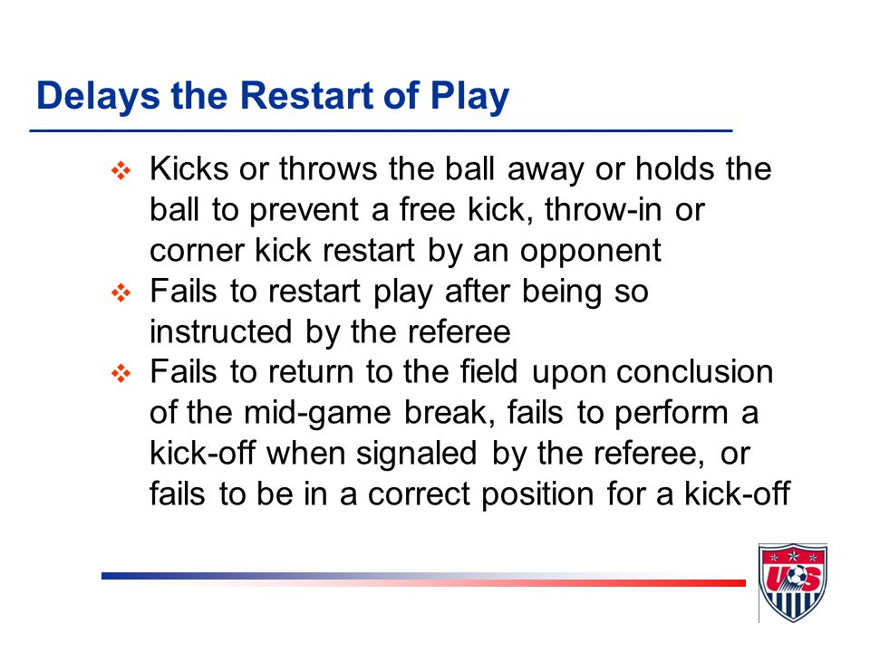 Persistently Infringes the Laws of the Game v Repeatedly commits fouls or participates in a pattern of fouls directed at an opponent v Violates Law 14