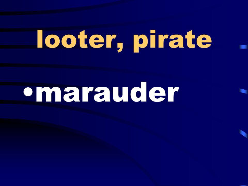 looter, pirate marauder