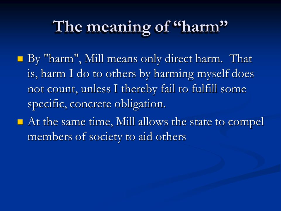 "The meaning of ""harm"" By"