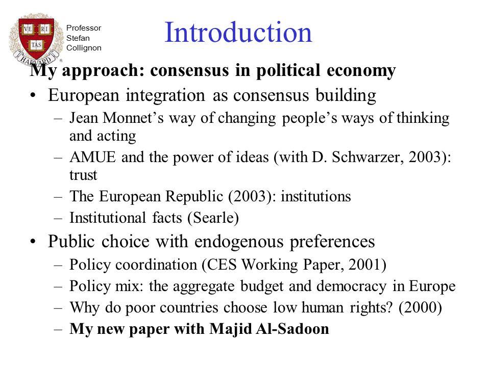 Professor Stefan Collignon II.Implications 2. Pig-headedness and Open- mindedness.