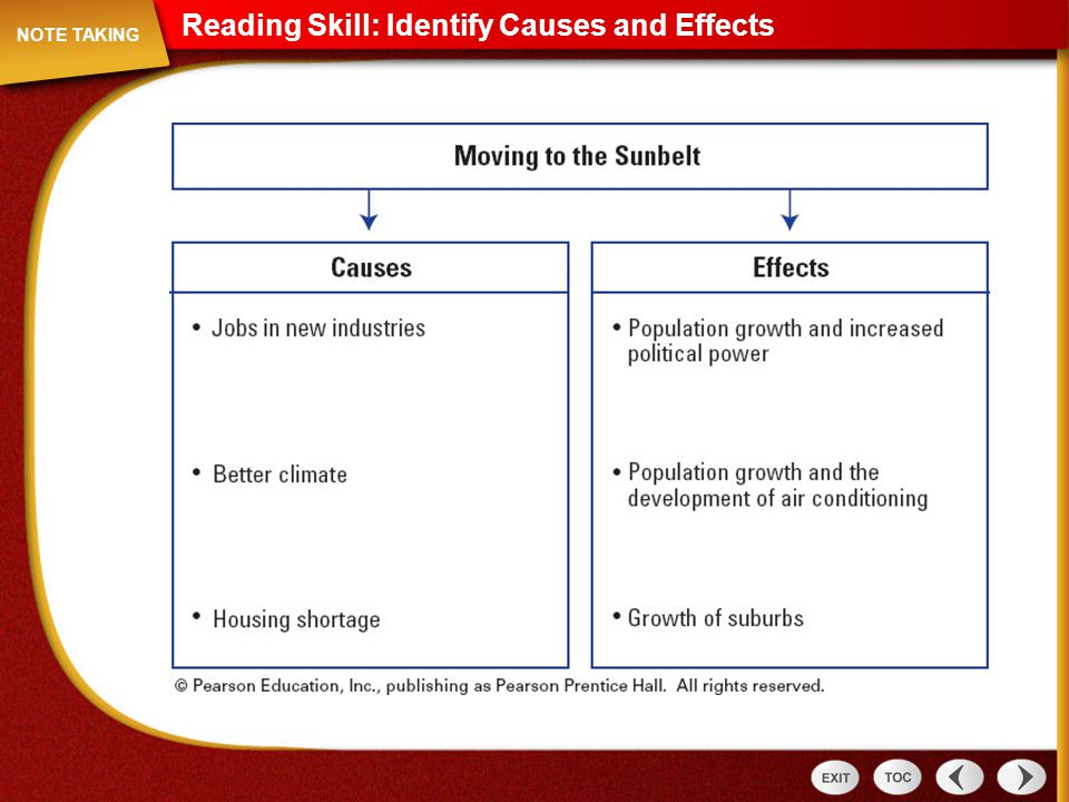 Reading Skill: Identify Causes and Effects Note Taking: Reading Skill: Identify Causes and Effects NOTE TAKING