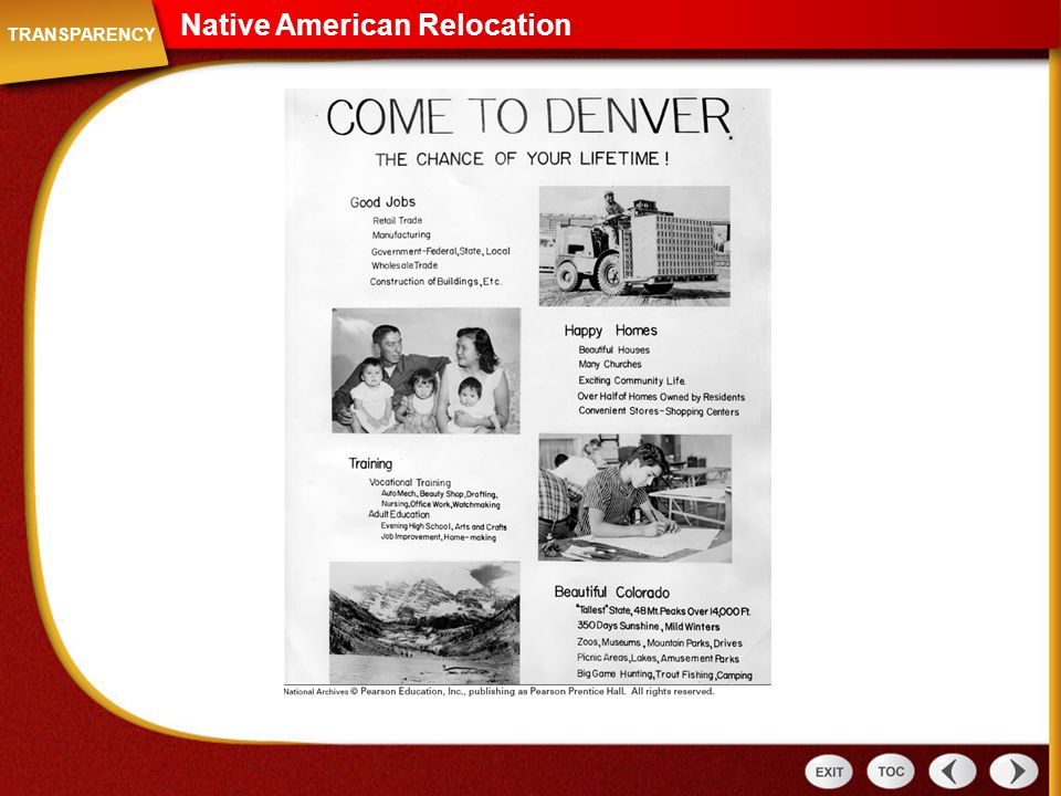 Native American Relocation Transparency: Native American Relocation TRANSPARENCY