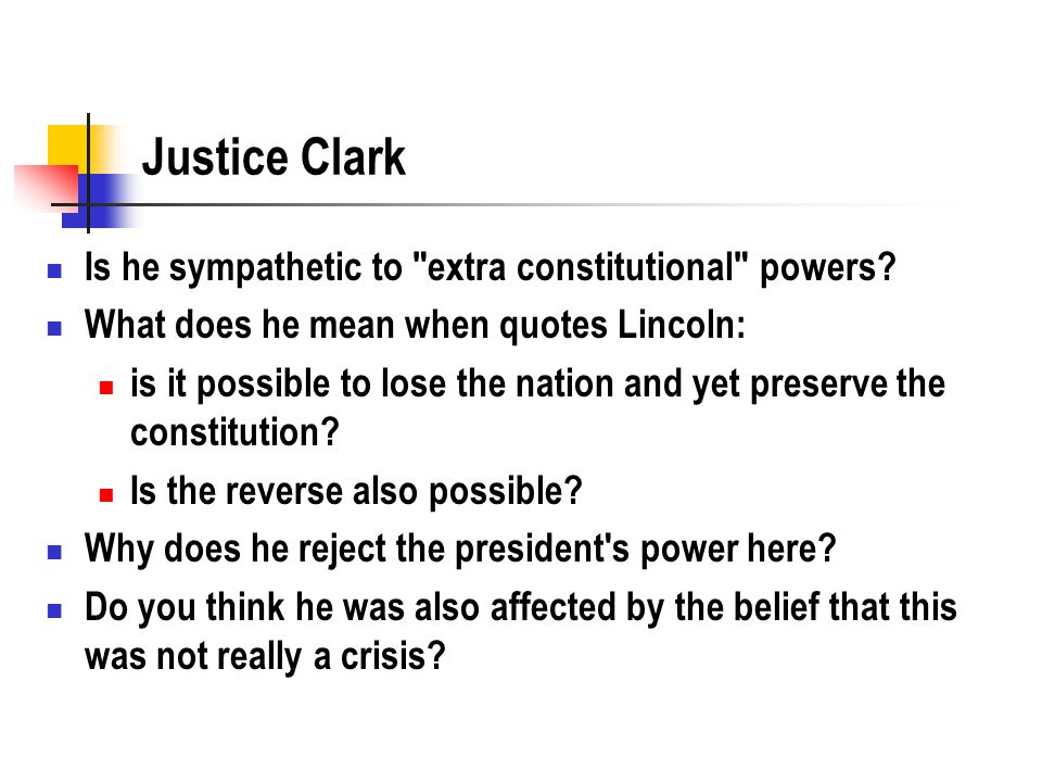 Justice Clark Is he sympathetic to