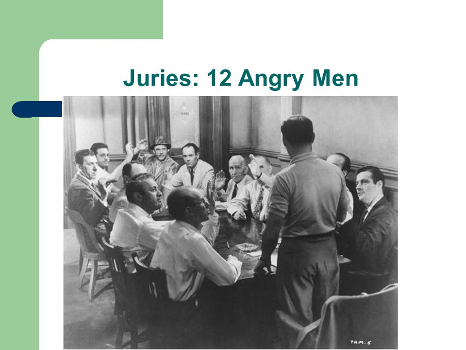Juries: 12 Angry Men