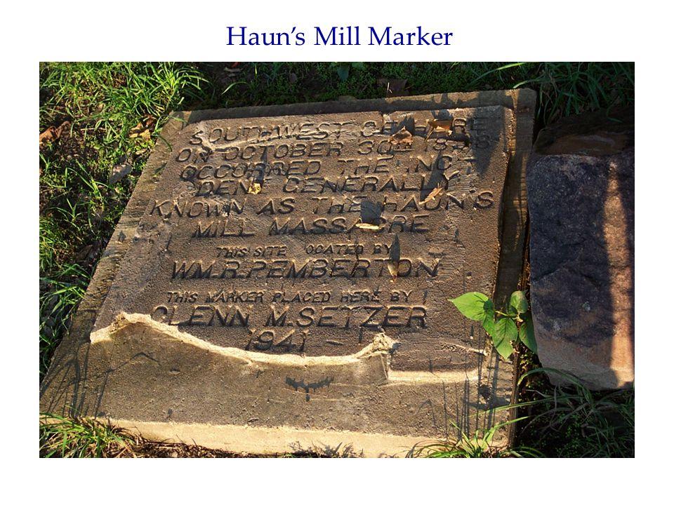 Haun's Mill Marker