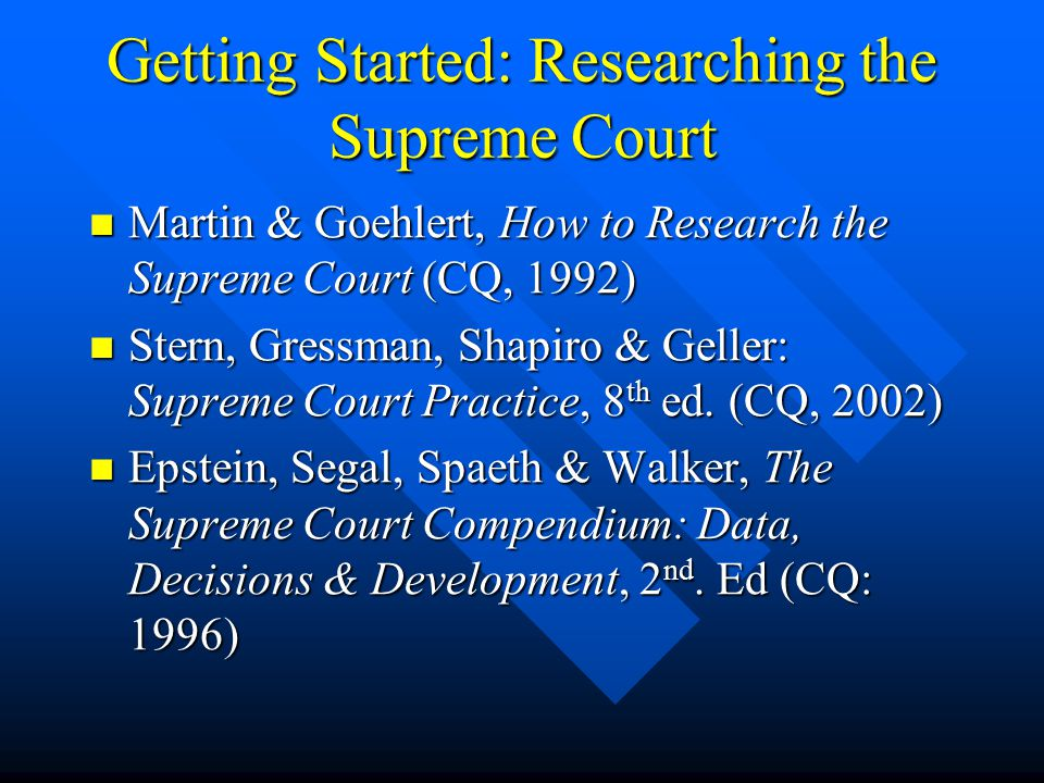 Speeches, Writings, Interviews Check Index to Legal Periodicals & WilsonWeb Check Index to Legal Periodicals & WilsonWeb Checks News files on both LexisNexis & Westlaw Checks News files on both LexisNexis & Westlaw See Partin's Supreme Court Research Guide & Bibliography See Partin's Supreme Court Research Guide & BibliographyPartin's Supreme Court Research Guide & BibliographyPartin's Supreme Court Research Guide & Bibliography Book Example: Sandra Day O'Connor, The Majesty of the Law (Random House, 2003) Book Example: Sandra Day O'Connor, The Majesty of the Law (Random House, 2003) Historically, locate papers collections (generally at major universities) Historically, locate papers collections (generally at major universities) Library of Congress Resources (ex: Alito) Library of Congress Resources (ex: Alito)Alito