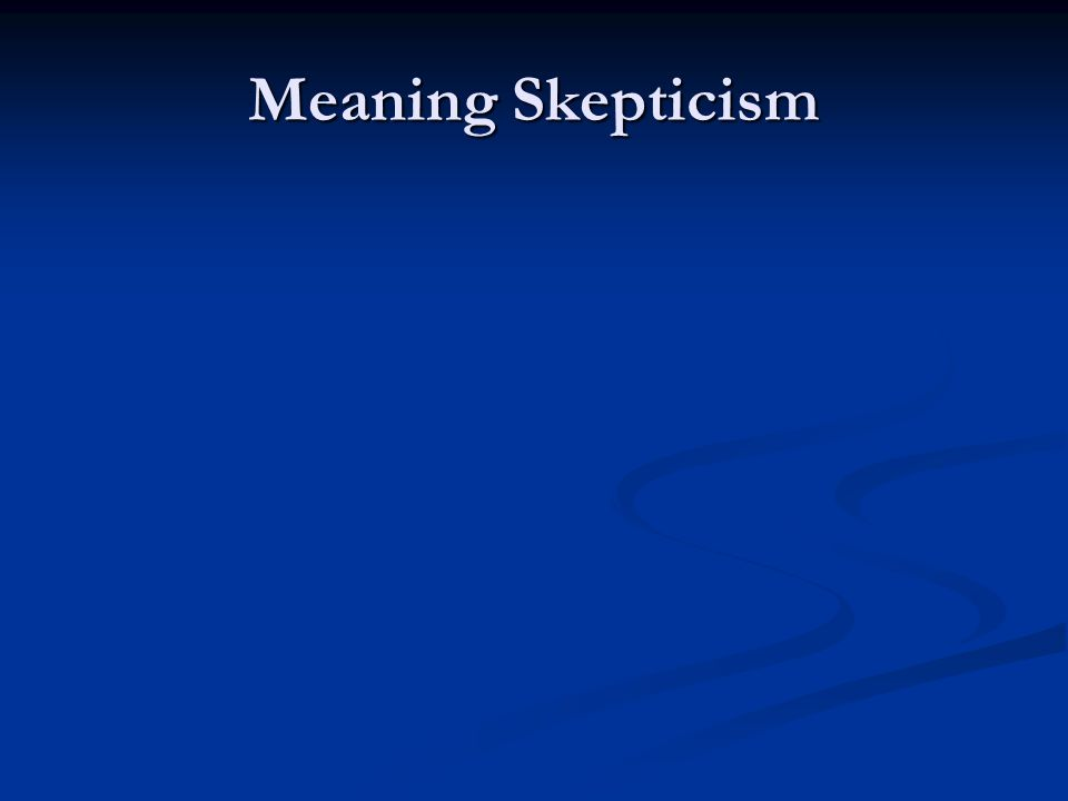 Kripkenstein K also thinks that there are no facts for meanings His argument derives from considerations about what it is to follow a rule