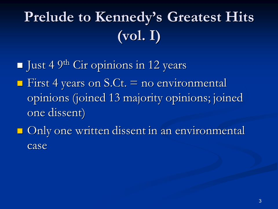 3 Prelude to Kennedy's Greatest Hits (vol.