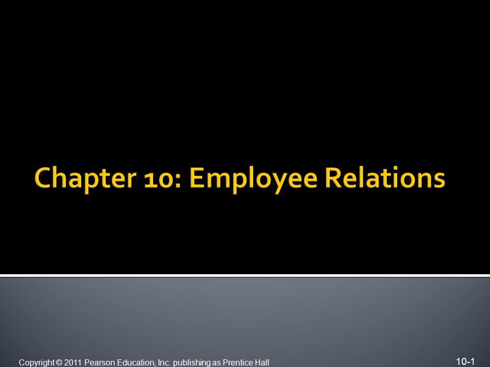 10-1 Copyright © 2011 Pearson Education, Inc. publishing as Prentice Hall
