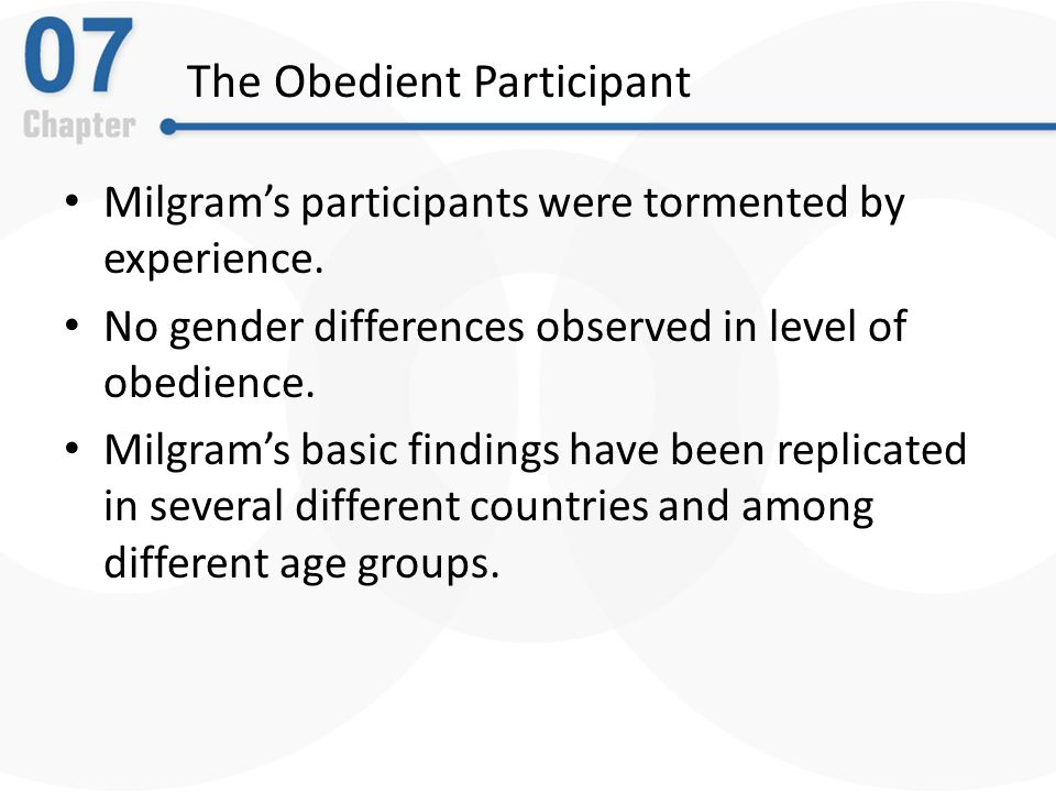 The Obedient Participant Milgram's participants were tormented by experience.
