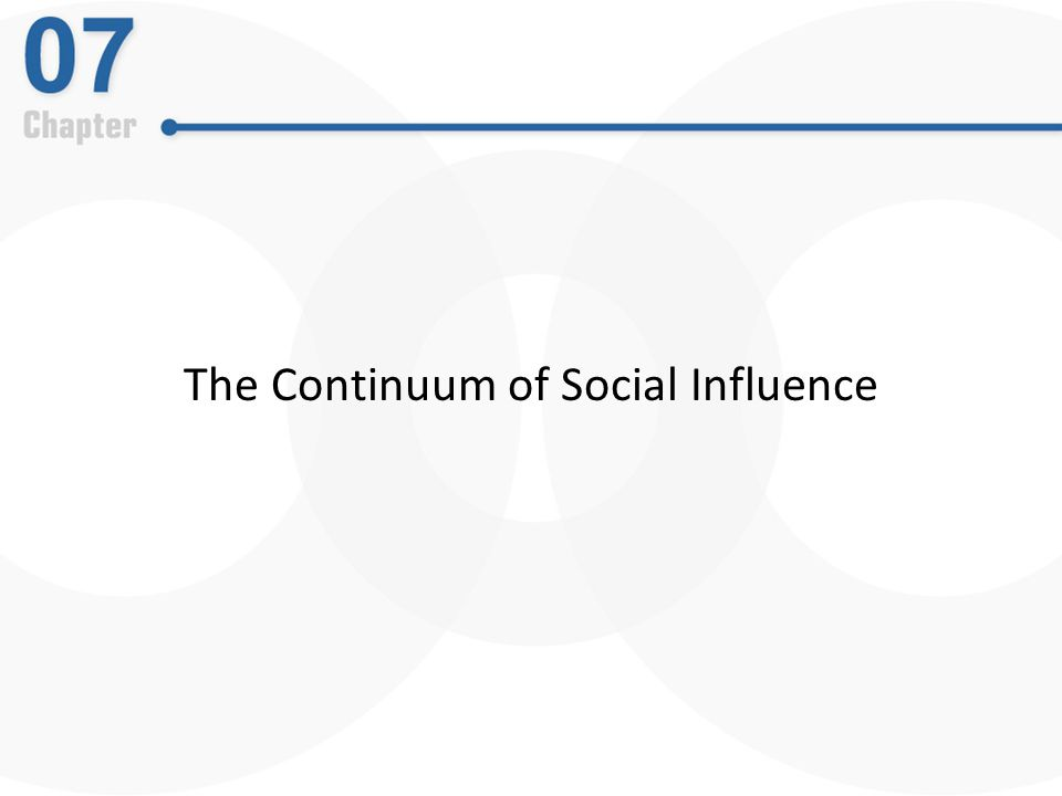 The Continuum of Social Influence
