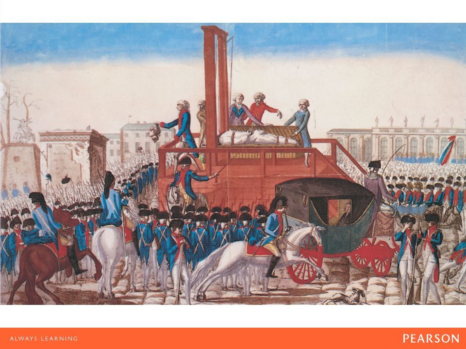 Execution of Louis XVI The execution of the king by French revolutionaries deepened the growing political division in America.