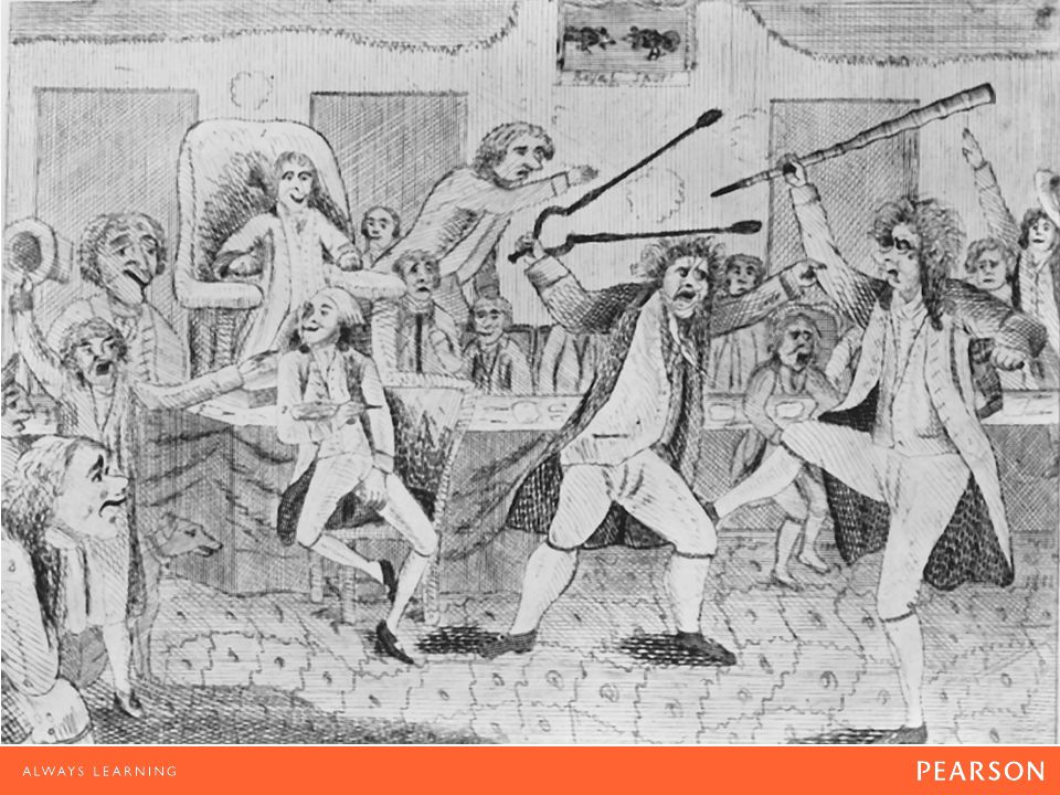 Party Conflict In the early years of the republic, political dissent sometimes escalated to physical violence.