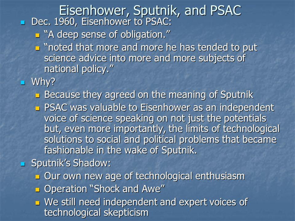 Eisenhower, Sputnik, and PSAC Dec. 1960, Eisenhower to PSAC: Dec.