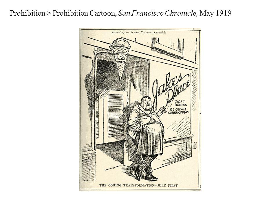 Prohibition > Prohibition Cartoon, San Francisco Chronicle, May 1919