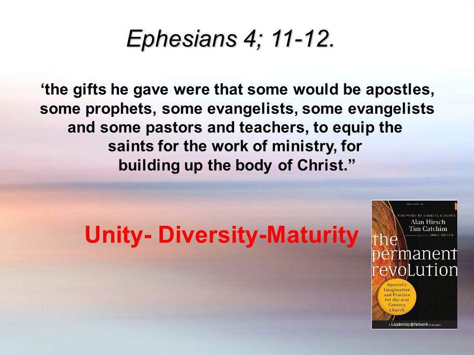 Ephesians 4; 11-12.