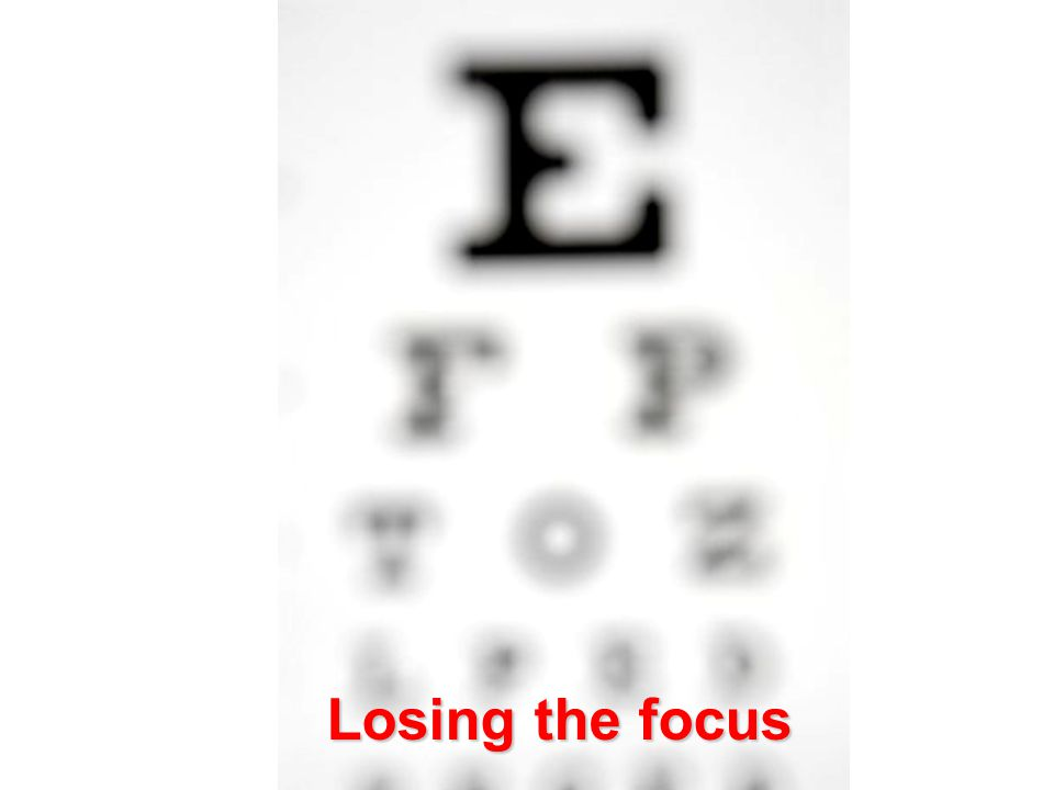 Losing the focus Losing the focus