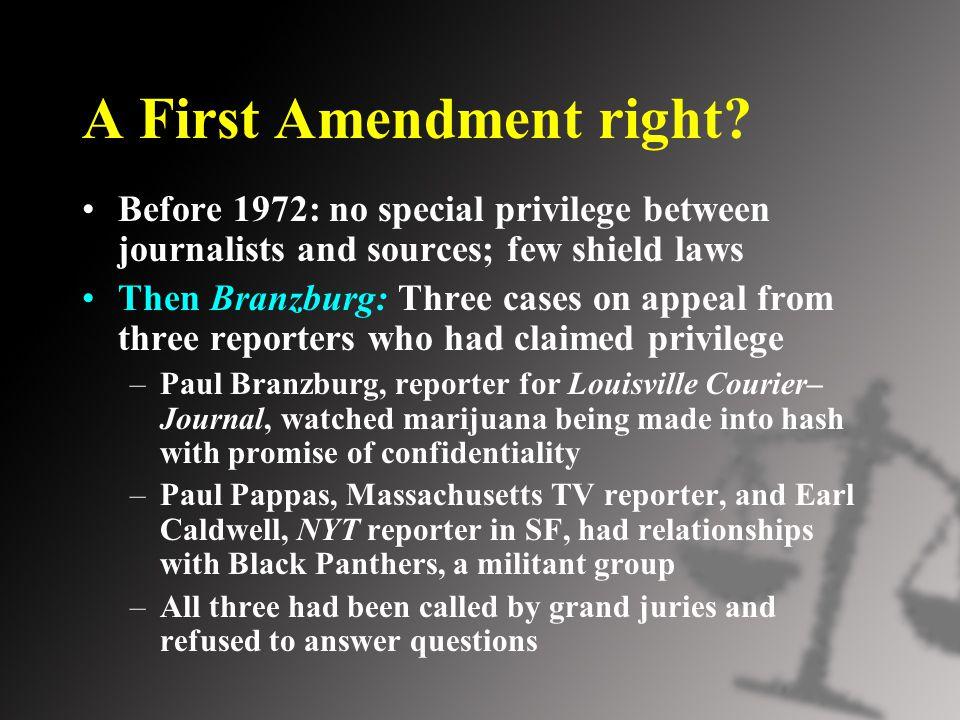 A First Amendment right.