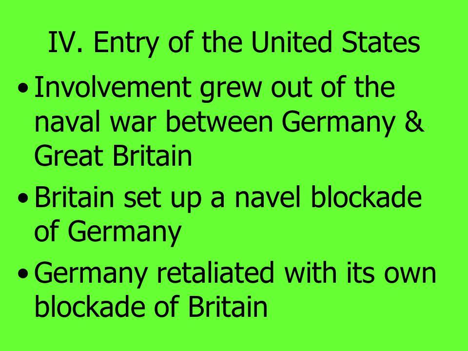 III. Widening of the War Australia seized German New Guinea