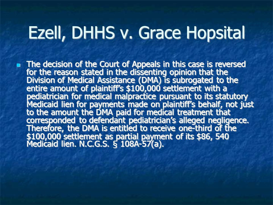 Ezell, DHHS v.