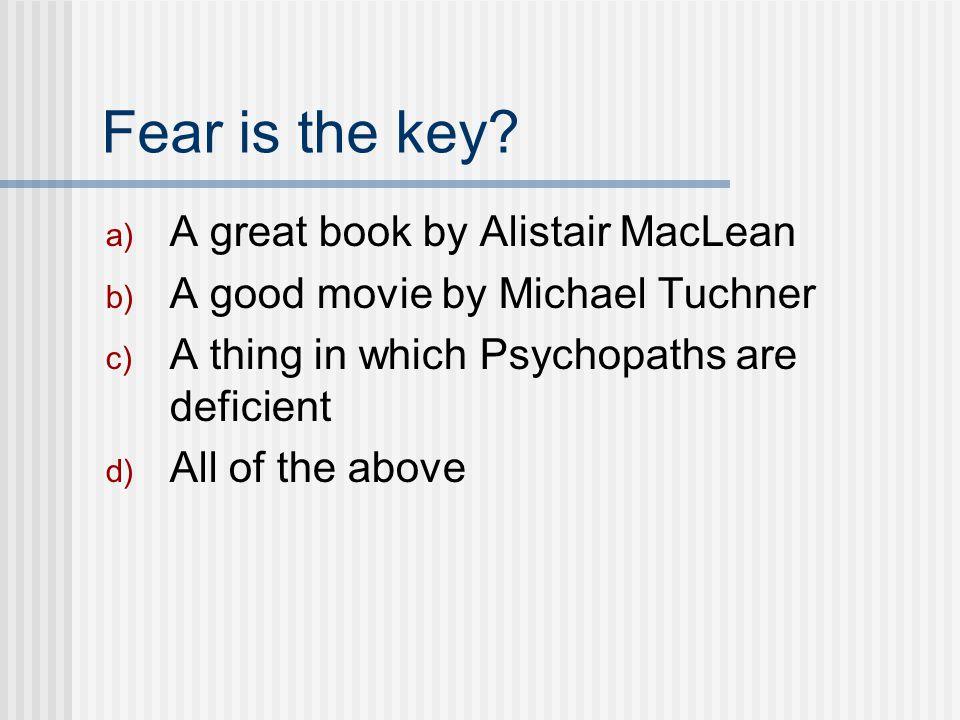Fear is the key.