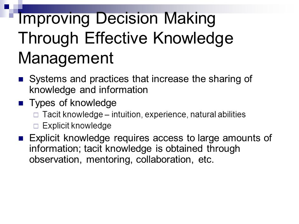 General Decision Making Styles Based on how one perceives and comprehends stimuli and chooses to respond Value orientation – task and technical concerns or people and social concerns Tolerance for ambiguity – need of structure or control