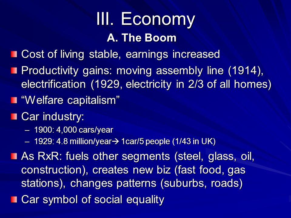 III. Economy A.