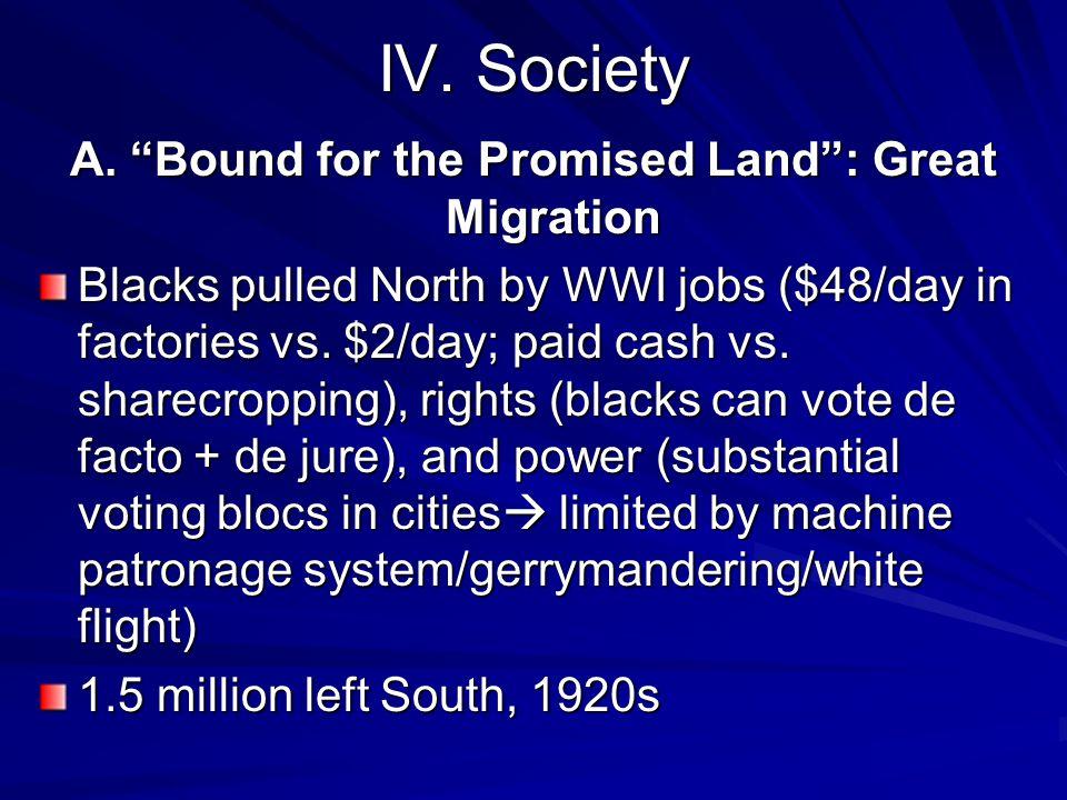 IV. Society A.