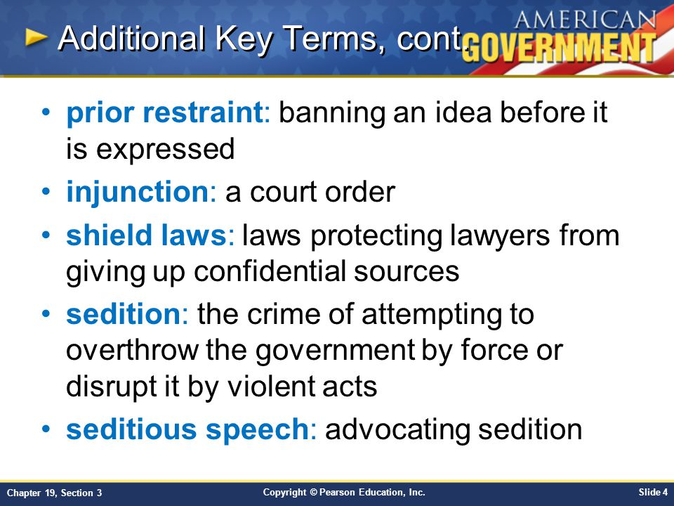 Copyright © Pearson Education, Inc.Slide 4 Chapter 19, Section 3 Additional Key Terms, cont.
