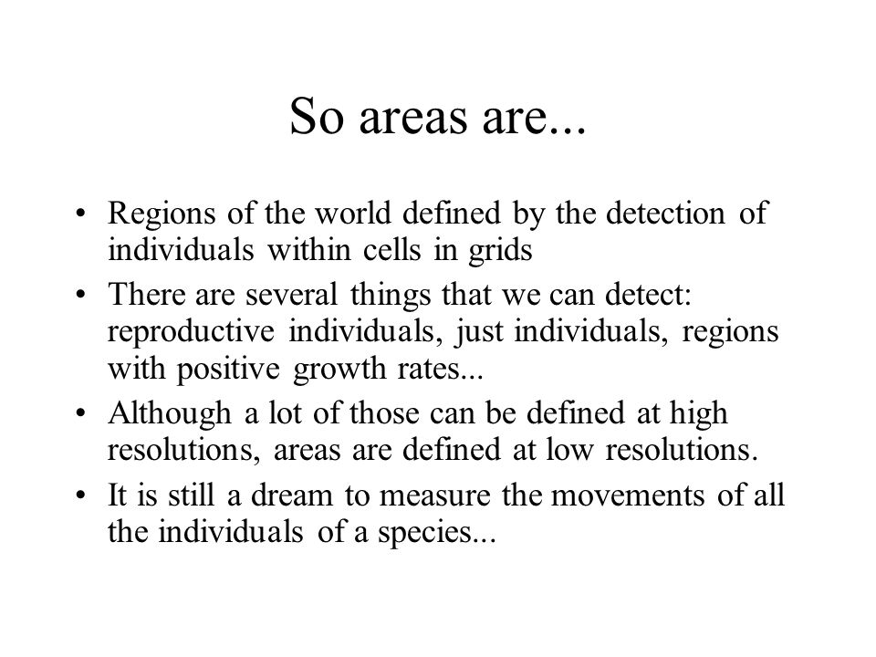 So areas are...